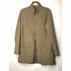 quilited parachute zip jacket