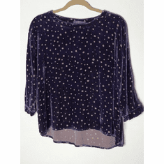 random dot burnout dolman crop