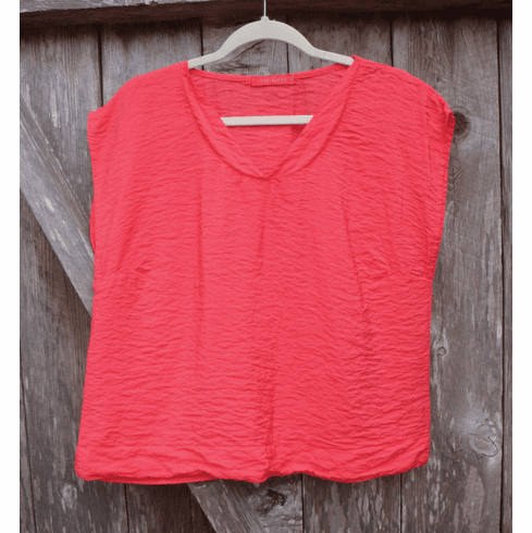 rayon banded neck top
