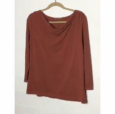 rayon jersey drape neck top