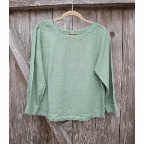 solid linen shell