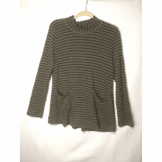 stripe checker board pkt sweater