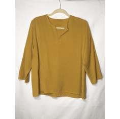 tencel split neck top