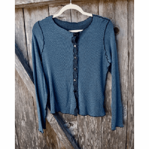 thermal crop cardigan