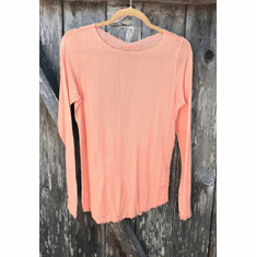 tulle pearl edge tee long sleeve
