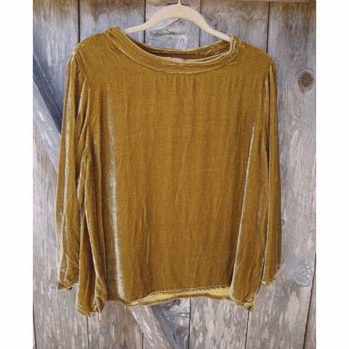 velvet mock neck top