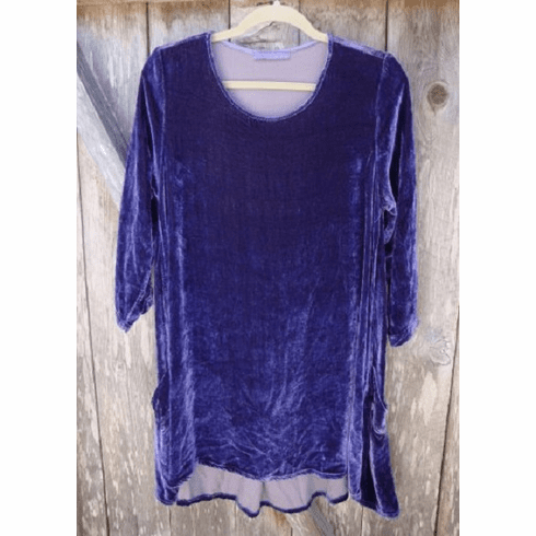 velvet side pocket tunic