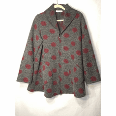 wool dot swing jacket