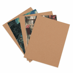 "030 Point Heavy Duty Chipboard Pads  8 1/2"" x 11"", 750 Case Pack"