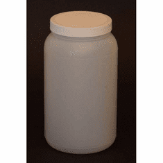 1/2 Gallon HDPE Wide Mouth Jars,12 Case Pack