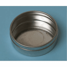 1/2 oz Bottom, Flat - Industrial Round Seamless Tins,48 Case Pack