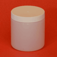 1/2 Pint HDPE Wide Mouth Jars Natural Color,12 Pack