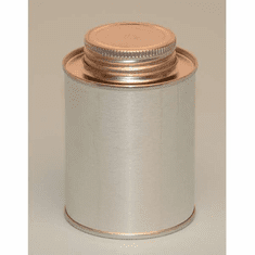1/2 Pint | 8oz Round Steel Tin Coated Metal Cans & Flat Utility Screw-Top, 10 Pk
