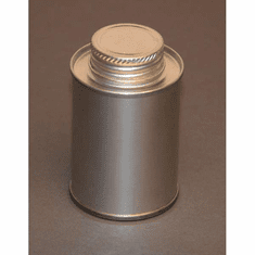 1/4 Pint | 4oz Round Steel Tin Coated Metal Cans & Flat Utility Screw-Top, 10 Pk