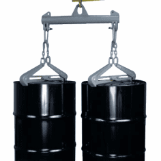1 Drum, 2000 lb Capacity Heavy Duty Drum Lifter With Steel Chime Tongs