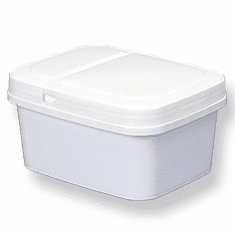 1 gal. short Square Ez Stor® Bucket Pail and lid, 12 Pack | Included Reclosable Lids