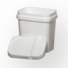 "1 gal. Tall  EZStor Bucket Pail and lid, 12 Pack | Included Reclosable Lids | W 5 7/8"" X L 7 7/8"" X H 8 3/16"""
