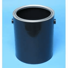 1 Gallon Black plastic paint can, with ears, 10 Case Pack