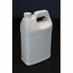 1 Gallon F Style Polyethylene Bottles White Color - 2 Pack