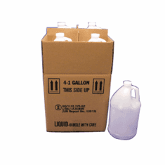 1 Gallon Round Bulk Packed Polyethylene Bottles, 4 Pack