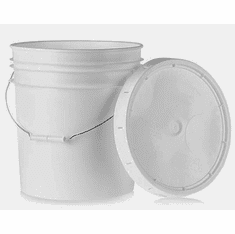 1 Gallon White Bucket with Lid   Per 6 Pack