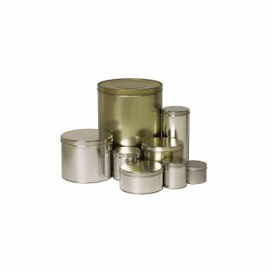 """1 lb Industrial Slip Cover Cans,3 3/4"""" x 2 1/2"""",120 Case Pack"""