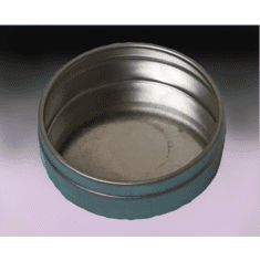1 oz Bottom, Flat - Industrial Round Seamless Tins,1000 Case Pack