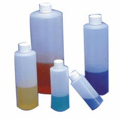 1 oz HDPE Cylinder Bottles,144 Pack
