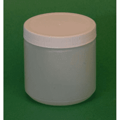 1 Pint HDPE Wide Mouth Jars Natural Color,12 Pack