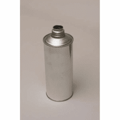 1 Pint Round Cone-Top Screw-Top Metal Cans, 10 Pack