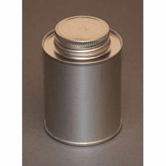 1 Pint | 16oz | Round Steel Tin Coated Metal Cans & Flat Utility Screw-Top, 10 Pk