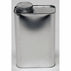 1 Quart F-style Oblong Screw-Top Metal Cans | 10 Pack