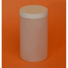 1 Quart HDPE Wide Mouth Jars, 89-400 Cap,12 Case Pack