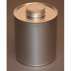 1 Quart | 32oz |Round Steel Tin Coated Metal Cans & Flat Utility Screw-Top, 10 Pk
