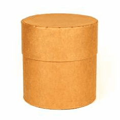 10 Gallon Round All-Fiber Corrugated Cardboard Drums With Corrugated Cardboard Fiber Lid