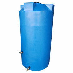 "100 Gallon  Emergency Water Storage Tank | Plastic Water Storage Storage | 30"" Diameter x 42"" Height-Light Blue"