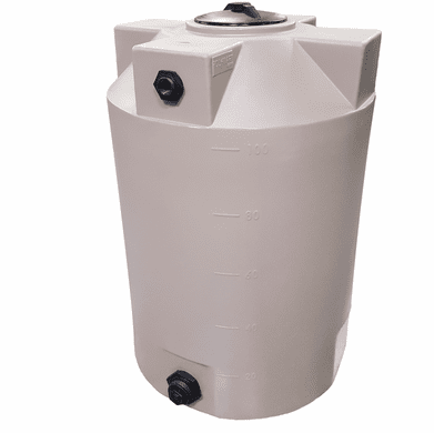 """100 Gallon Plastic Water Storage Tank 
