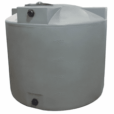 "1000 Gallon Plastic Water Storage Tank | Long-Term Water Storage |  Dimensions: 75"" Diameter x 65"" Height"