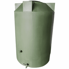 "1150 Gallon  Emergency Water Storage Tank | Plastic Water Storage Storage |  Dimensions: 63"" Diameter x 90"" Height"