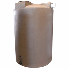 "1150 Gallon Plastic Rain Water Storage Tank | Rainwater Harvesting |  Dimensions: 63"" Diameter x 90"" Height"