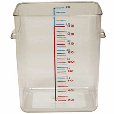 12 Quart Polycarbonate Rubbermaid Square Food Storage Containers