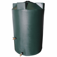 "125 Gallon  Emergency Water Storage Tank | Plastic Water Storage Storage | 30"" Diameter x 50"" Height"