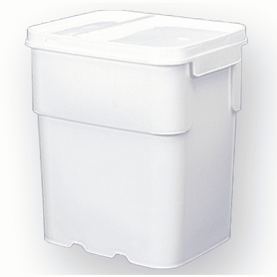 13 gal.Square Ez Stor® Bucket Pail and lid,  Recessed handle and Lid