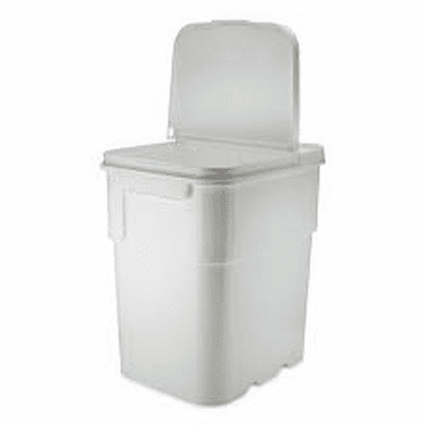 13 gal.Square Ez Stor® Bucket Pail and lid,  Recessed handle and Lid | Included Reclosable Lid