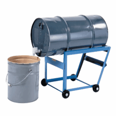 "15 Gallon Drum Cradle | Drum Cradle With 3 Inch Polyolefin Wheels | <font color=""red""> Free Ship</font>"