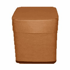 15 Gallon Square All-Fiber Corrugated Cardboard Drum With Corrugated Fiber Lid