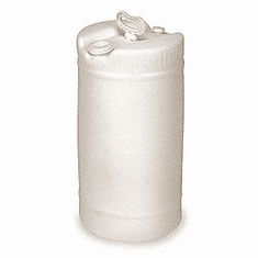 15 Gallon White Plastic Barrel, New