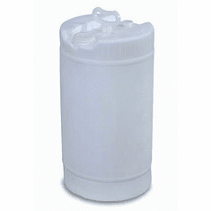 15 Gallon White Plastic Water Barrel, New