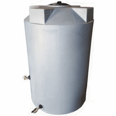 "150 Gallon  Emergency Water Storage Tank | Plastic Water Storage Storage | 30"" Diameter x 58"" Height"