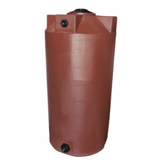 "150 Gallon Plastic Water Storage Tank | Long-Term Water Storage | 30"" Diameter x 58"" Height"